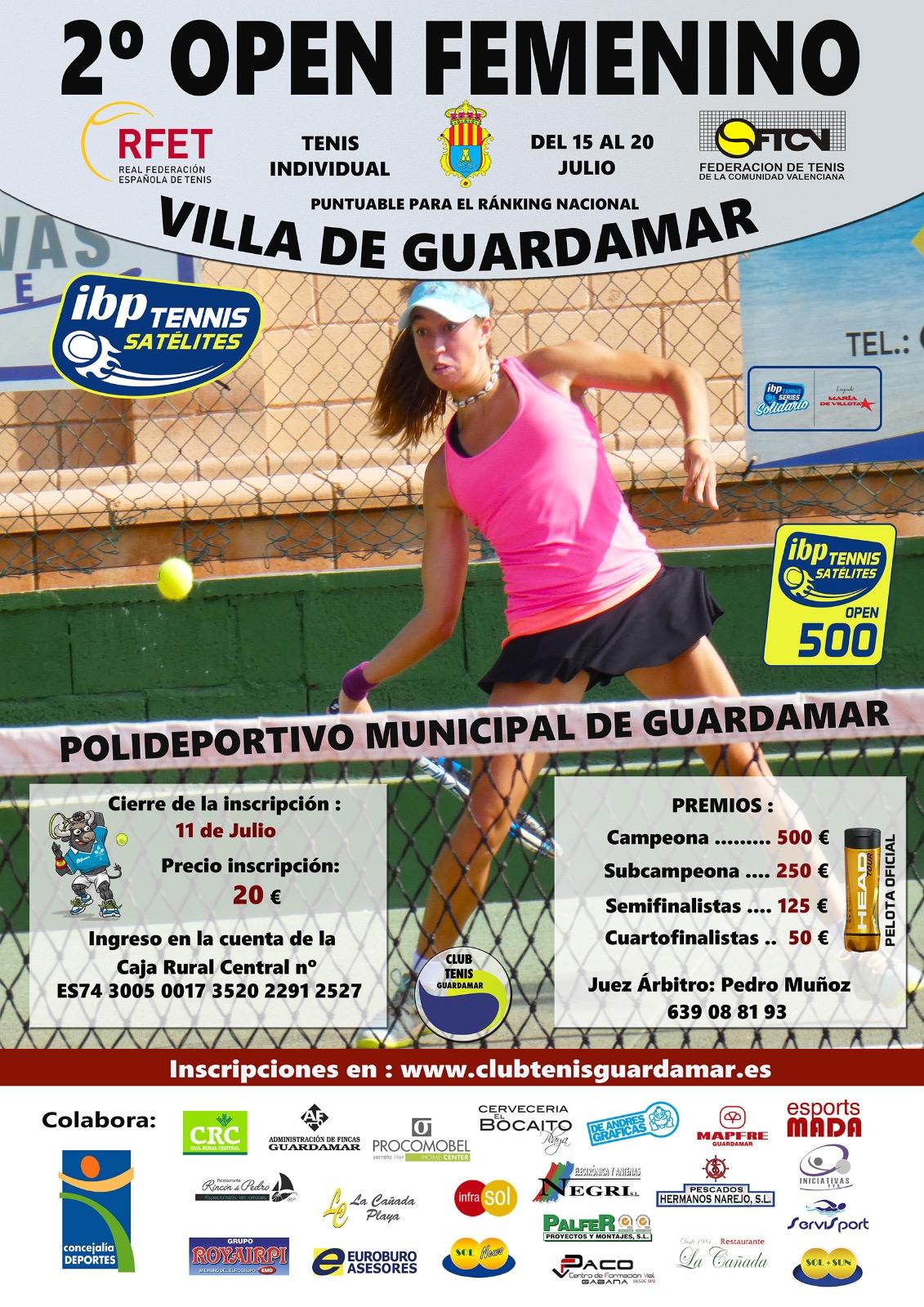 2 Open Villa de Guardamar Categoría Femenina